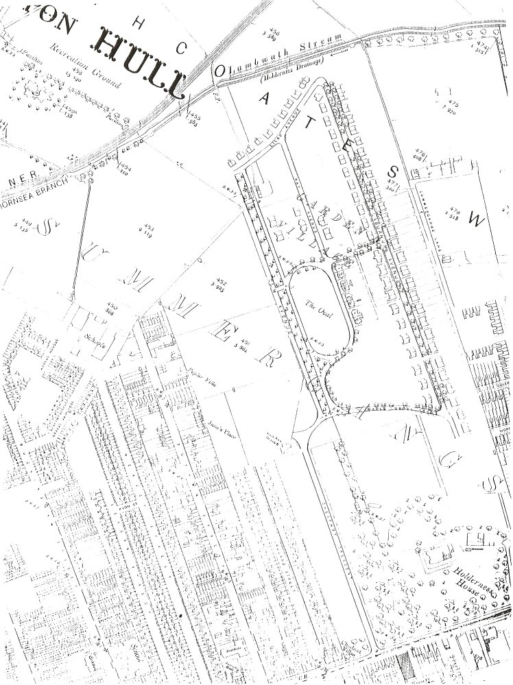 The Garden Village Area in 1909